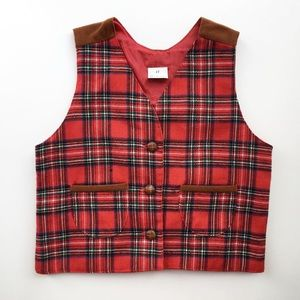 Vintage 4T plaid holiday vest
